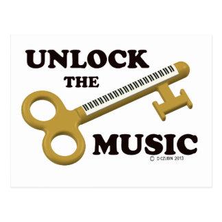 Unlock The Music Post Card