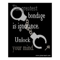 Unlock Your Mind (black) Poster