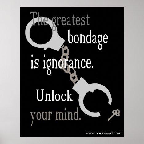 Unlock Your Mind (black) Poster