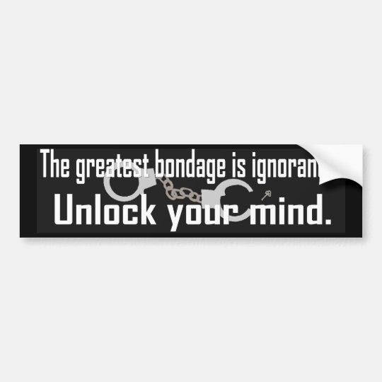 Unlock Your Mind Bumper Sticker