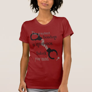 Unlock Your Mind Red Ladies' T-Shirt