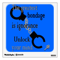 Unlock Your Mind Wall Art Wall Sticker