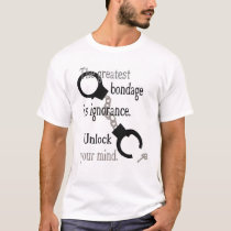 Unlock Your Mind White Border Licensed T-Shirt