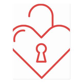Unlocked Heart Postcard