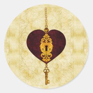 Unlocked Love Valentine Stickers