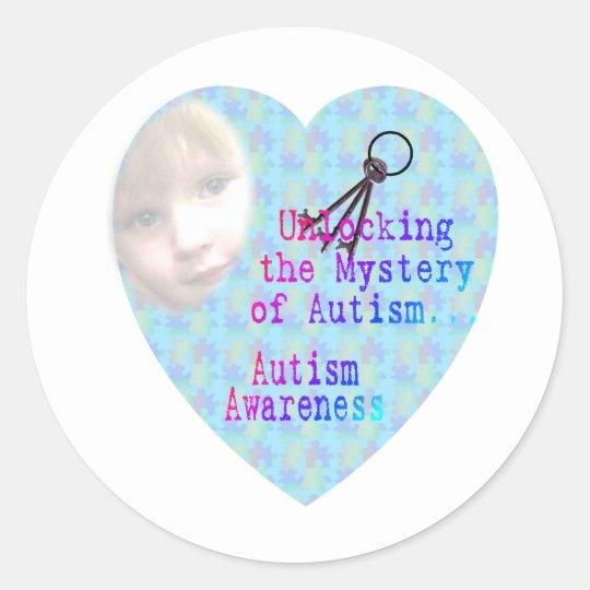 Unlocking Austism Classic Round Sticker
