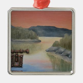 Unlocking the Dream by Fine Artist Alison Galvan Metal Ornament