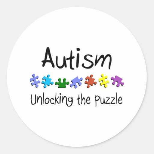 Unlocking The Puzzle Classic Round Sticker