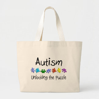 Unlocking The Puzzle Large Tote Bag