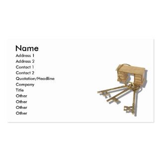 UnlockOfficeTools090410, Name, Address 1, Addre... Double-Sided Standard Business Cards (Pack Of 100)