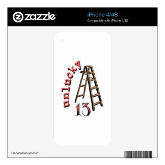Unlucky 13 skin for the iPhone 4S