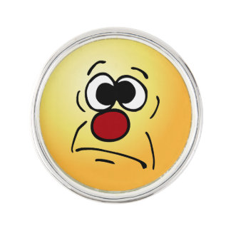 Unlucky Face: Today just isn't my day of the week Lapel Pin