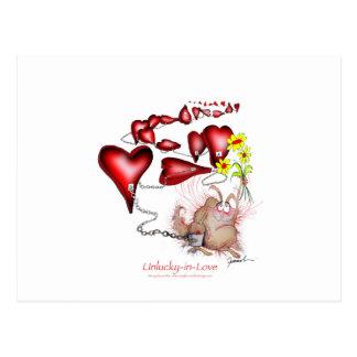 unlucky in love, tony fernandes postcard