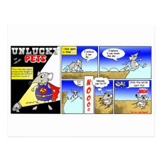 Unlucky pets postcard