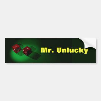 Unlucky Red Dice Sticker Bumper Stickers