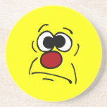 Unlucky Smiley Face Grumpey Coasters