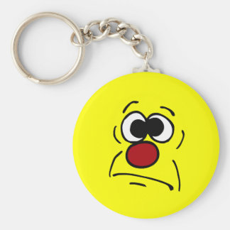 Unlucky Smiley Face Grumpey Keychain