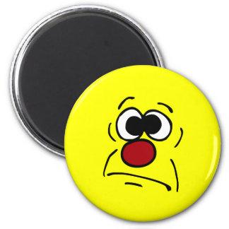 Unlucky Smiley Face Grumpey Magnet