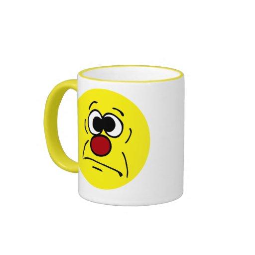Unlucky Smiley Face Grumpey Mugs