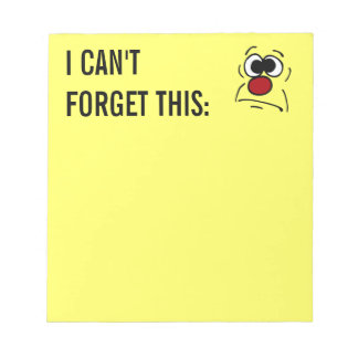Unlucky Smiley Face Grumpey Notepad