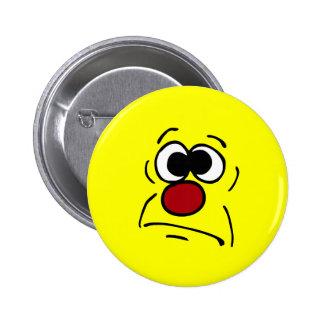Unlucky Smiley Face Grumpey Pinback Button