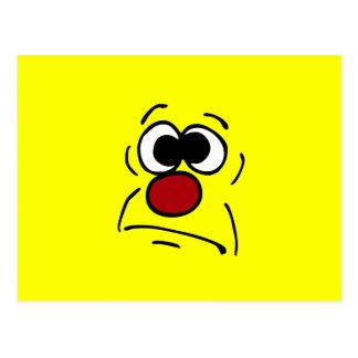 Unlucky Smiley Face Grumpey Postcard