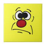 Unlucky Smiley Face Grumpey Tile