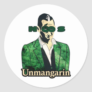 Unmangarin Classic Round Sticker