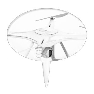 Unmanned aerial vehicle (drone) cake topper