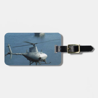 Unmanned Helicopter Fire Scout Luggage Tag.
