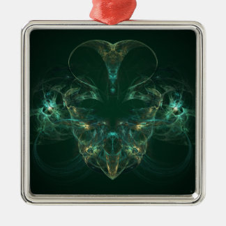 Unmasked Abstract Fractal Art Metal Ornament