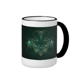 Unmasked Abstract Fractal Art Ringer Mug