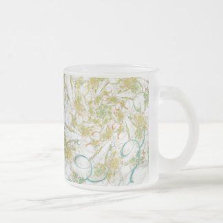 UnMasked Abstract Home & Office 10 Oz Frosted Glass Coffee Mug