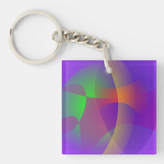 Unmasked Blue Purple Keychain
