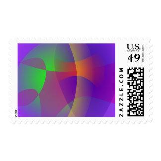 Unmasked Blue Purple Stamp