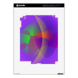 Unmasked Blue Purple iPad 3 Decals