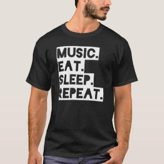 Unmasked: Music. Eat. Sleep. Repeat. T-Shirt