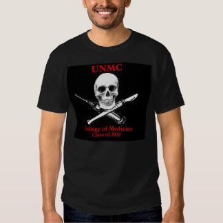 UNMC skull SOM blackshirt class of 2010 med school T-shirt