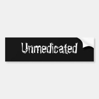 Unmedicated Pegatina Para Auto