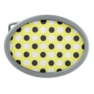 Unmellow Yellow Polka Dots Belt Buckle