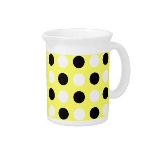 Unmellow Yellow Polka Dots Pitcher