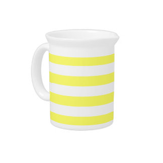 Unmellow Yellow Stripes Beverage Pitcher