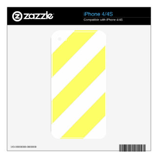 Unmellow Yellow Stripes Decals For The iPhone 4S
