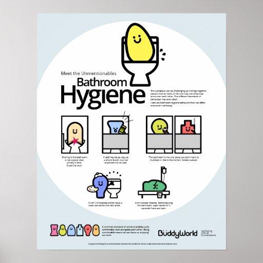 Unmentionables Bathroom Hygiene Poster Zazzle