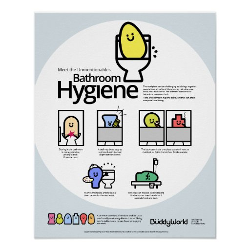 Unmentionables Bathroom Hygiene Posters Zazzle