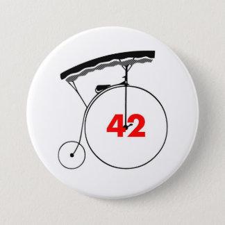 Unmutual 42 pinback button