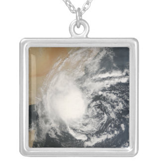 Unnamed Tropical Cyclone Square Pendant Necklace