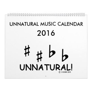 UNNATURAL! 2016 Music Calendar