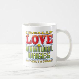 Unnatural Urges Love Face Coffee Mug