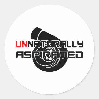 Unnaturally Aspirated Classic Round Sticker